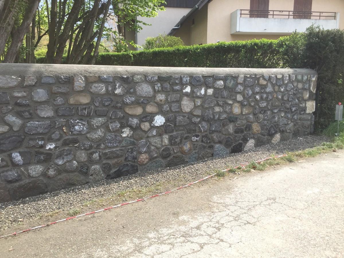 Habillage D Un Mur De Cloture entreprise françois poirier maçonnerie travail de la pierre